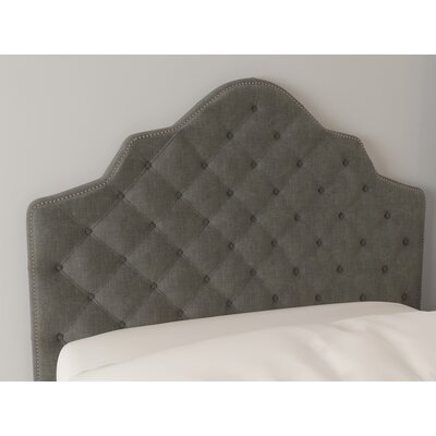 Christophe Upholstered Panel Headboard Size: King, Color: Pewter, Upholstery: Velvet