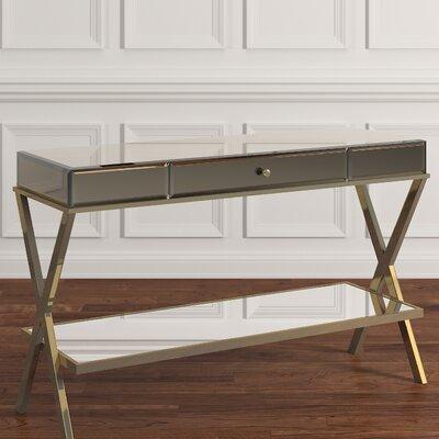Adina Mirror Console Table Finish: Champagne Gold