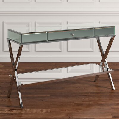 Tibbett Mirror Console Table Finish: Chrome