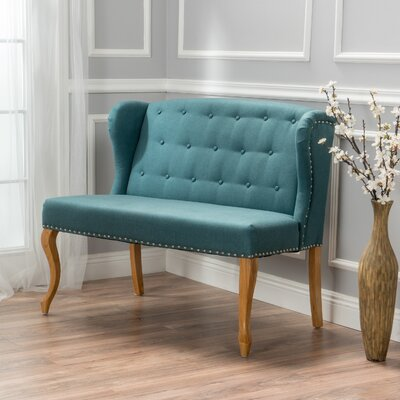 Courtenay Fabric Loveseat Upholstery: Dark Teal
