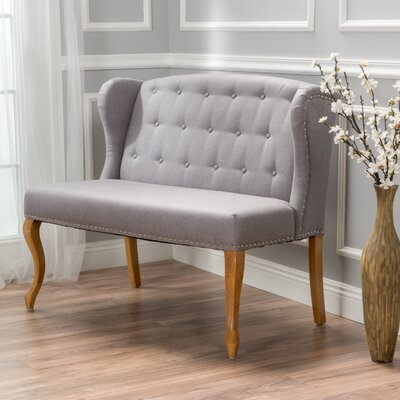 Dean Fabric Loveseat Upholstery: Light Grey