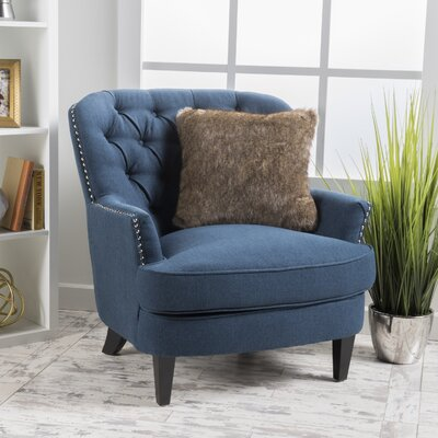 Greene Tufted Upholstered Linen Club Chair