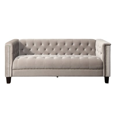Dowe Tufted Sofa Color: Milky Beige