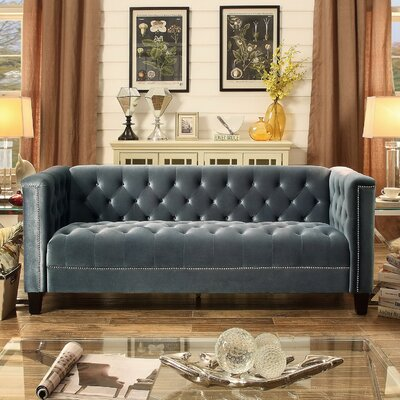 Dowe Tufted Sofa Color: Gray