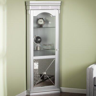 Harldson Mirrored Lighted Corner Curio Cabinet