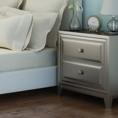 Bromford 2 Drawer Nightstand