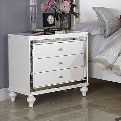 Rivage 3 Drawer Nightstand