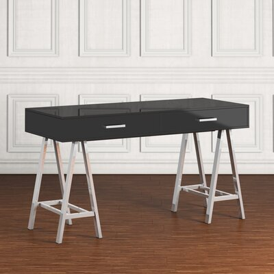 Griffin Writing Desk Finish: Black