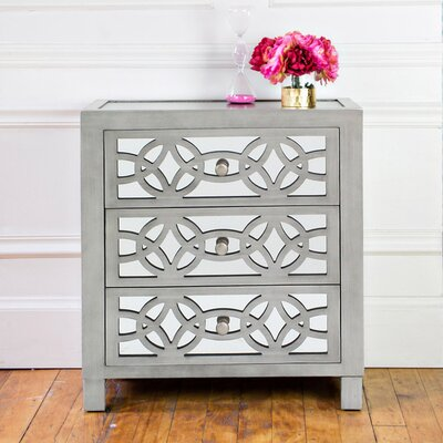 Kathleen Bridgman 3 Drawer Mirror Chest by House of Hampton