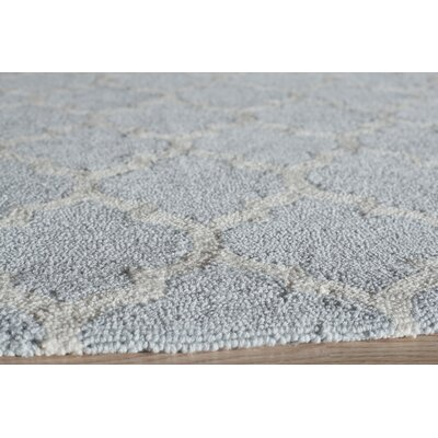 Frank Hand-Hooked Gray Area Rug Rug Size: Rectangle 76 x 96