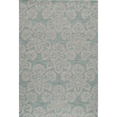 Shinault Hand-Hooked Blue Area Rug Rug Size: Rectangle 5 x 76