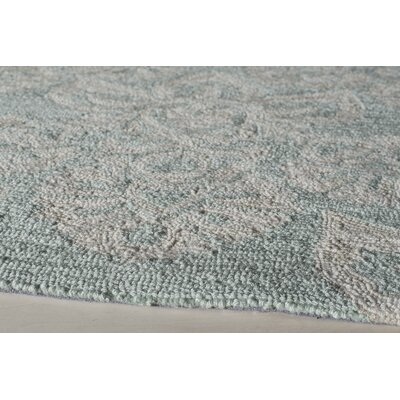 Anne Hand-Hooked Blue Area Rug