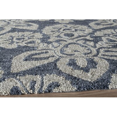Anne Hand-Hooked Navy Area Rug