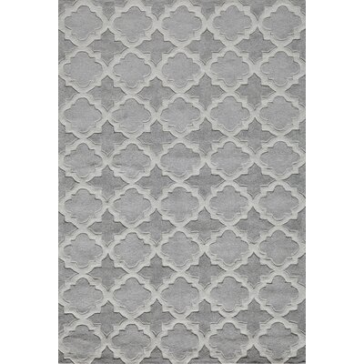 Edie Hand-Tufted Gray Area Rug Rug Size: Rectangle 8 x 10