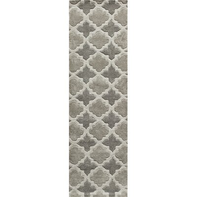 Edie Hand-Tufted Gray Area Rug Rug Size: Runner 23 x 8