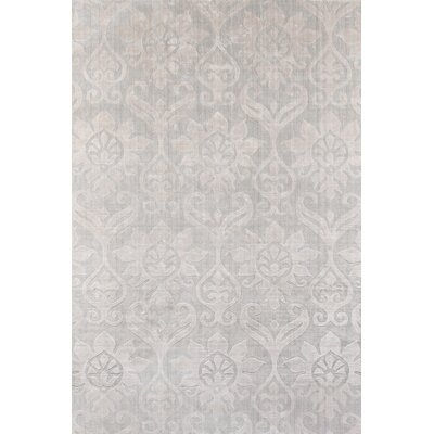 Selena Hand-Loomed Silver Area Rug Rug Size: Rectangle 36 x 56