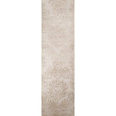 Selena Hand-Loomed Sand Area Rug Rug Size: Runner 23 x 8