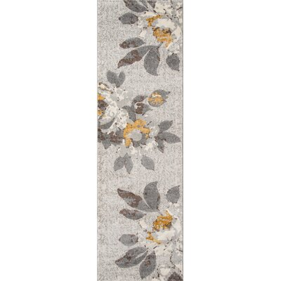 Cherell Gray Area Rug Rug Size: Runner 23 x 76