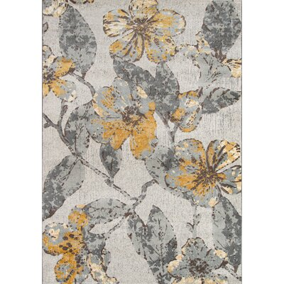 Elisabetta Gray Area Rug Rug Size: Rectangle 53 x 76