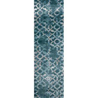 Ozzy Teal/Gray Area Rug Rug Size: Rectangle 76 x 96