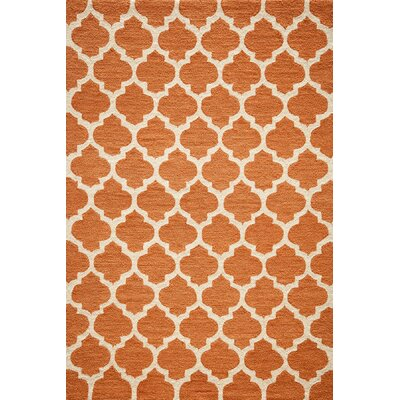 Frank Hand-Hooked Pumpkin Area Rug Rug Size: Rectangle 76 x 96