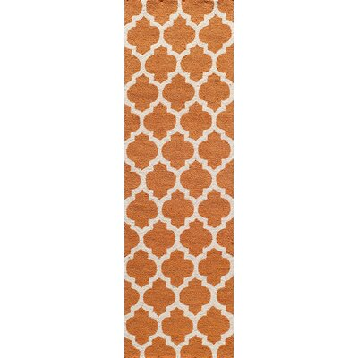 Frank Hand-Hooked Pumpkin Area Rug Rug Size: Runner 23 x 76