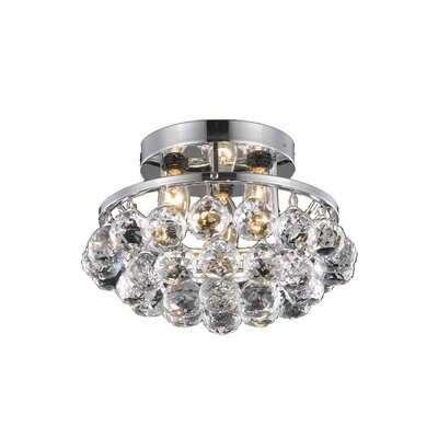 Gorbold  3-Light Flush Mount Finish: Chrome