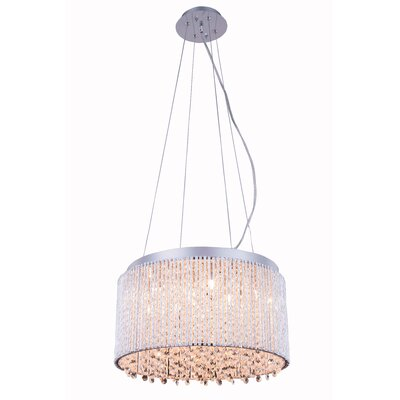 Downes  10-Light Crystal Pendant