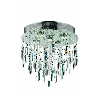 Colne  5-Light Flush Mount Crystal Grade: Swarovski Element