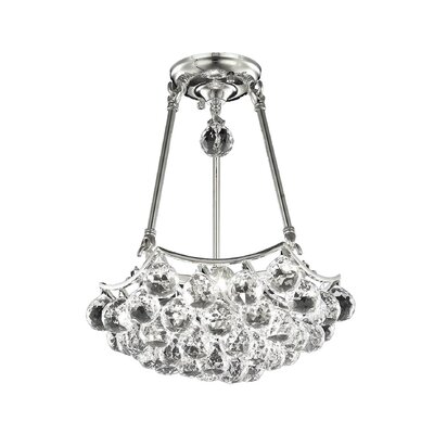 Gorbold 4-Light Crystal Chandelier Crystal Grade: Elegant Cut, Finish: Gold