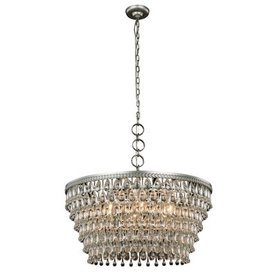 Willa Arlo Interiors Esmeraude 6-Light Crystal Chandelier