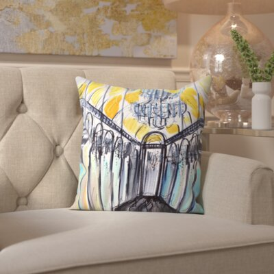 White Plains Hall of Mirrors Throw Pillow Size: 18 H x 18 W x 2 D