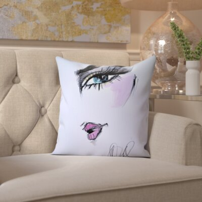 Sylvia Give the Look Throw Pillow Size: 18 H x 18 W x 2 D