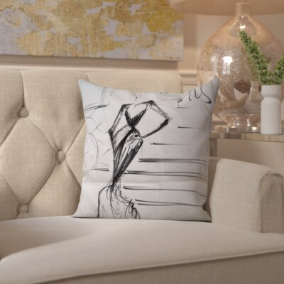 Tamera A Night in Paris Throw Pillow Size: 20 H x 20 W x 2 D