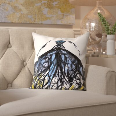 Brookhaven Evening at the Met Throw Pillow Size: 16 H x 16 W x 2 D