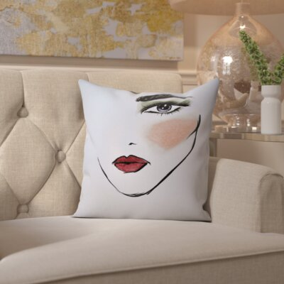 Harper MaybellineNY CamoChic Throw Pillow Size: 18 H x 18 W x 2 D