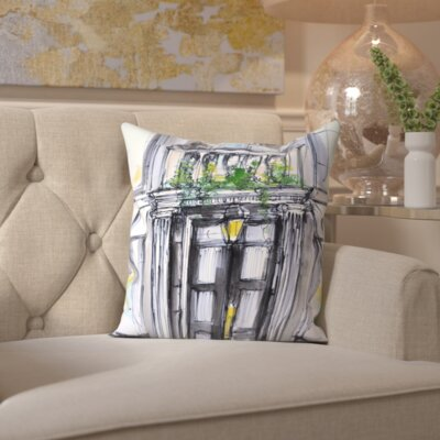 Willacoochee Back Bay Brownstone Throw Pillow Size: 16 H x 16 W x 2 D