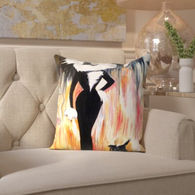Prudence Lady Zaza and Fifi Throw Pillow Size: 16 H x 16 W x 2 D
