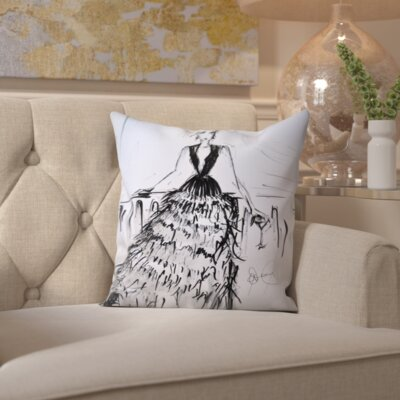 Nezperce Feathers and Martinis Throw Pillow Size: 16 H x 16 W x 2 D