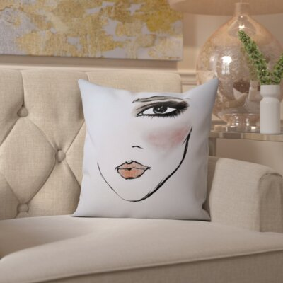 Brooklet MaybellineNY Smoky and Sassy Throw Pillow Size: 18 H x 18 W x 2 D