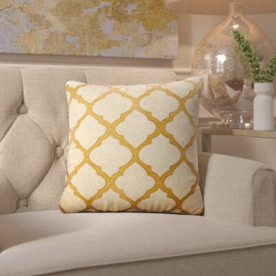 Barrat Throw Pillow Color: Gold