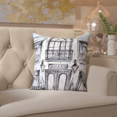 Isobel Window Shopping Throw Pillow Size: 16 H x 16 W x 2 D