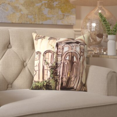 Luetta Brownstone Entryway Throw Pillow Size: 16 H x 16 W x 2 D