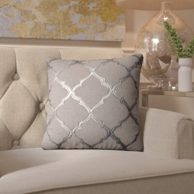 Barrat Throw Pillow Color: Silver