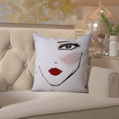 Firth MaybellineNY LoveforLust Throw Pillow Size: 18 H x 18 W x 2 D