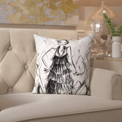 Pine Bluffs Speak Easy Throw Pillow Size: 16 H x 16 W x 2 D