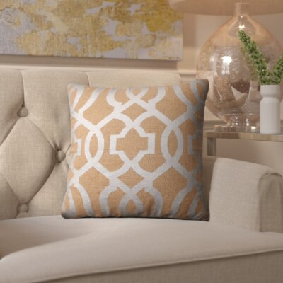 Isolda Geometric Jute Throw Pillow Color: Tan