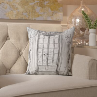 Sunny Side Versailles Window Throw Pillow Size: 16 H x 16 W x 2 D
