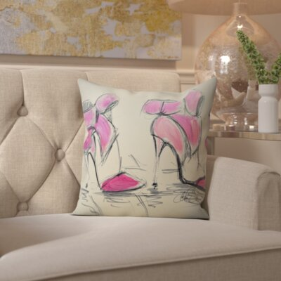 Katarina Bows Throw Pillow Size: 18 H x 18 W x 2 D