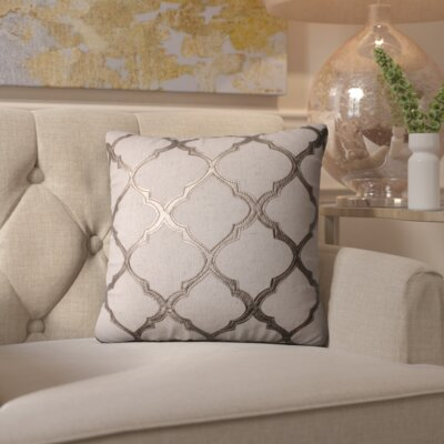 Barrat Throw Pillow Color: Metal